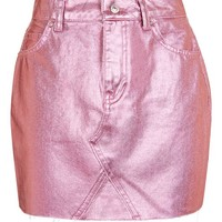 MOTO Pink Metallic Skirt - Skirts - Clothing