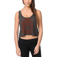 Obey Eye Of The Tiger Charcoal Breakup Crop Tank Top at Zumiez : PDP