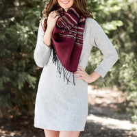 Fireside Sweater Dress- Heather Grey