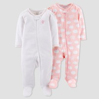 Baby Girls' 2pk Sleep N Play - Just One You™ Made by Carter's® Pink Sheep