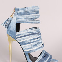 Zoey Denim Heel