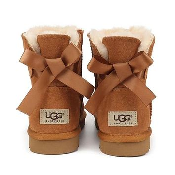 High quality UGG classic hot sale bow low-top snow boots Shoes