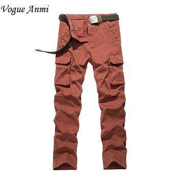 Vogue Anmi.Casual Plus Size Cotton Breathable Multi Pocket Military Army Camouflage Cargo Pants For Men Plus Size 30-40