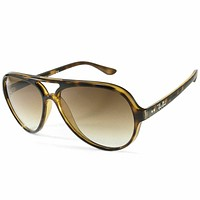 RayBan Cats 5000 Sunglasses - Tortoise Light Brown Gradient - 4125 710/51 59-13