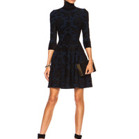 Cami Turtleneck Rayon-Blend Dress in Midnight