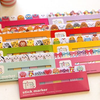 1 pc Lot Cartoon sticky note Post it stick & memo paper stickers HT1401-550 bookmark stationery office School supplies