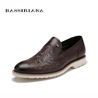 Shoes men Genuine leather New Spring 39-45 size Fashion casual shoe for men