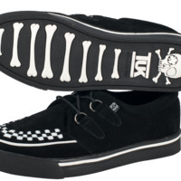 Black Suede White Interlace Sneakers