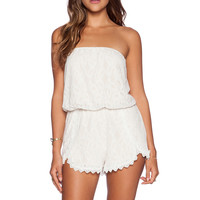 Free People Tahlia Lace Romper in Ivory