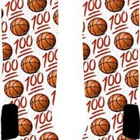 Emoji Basketball 100 Custom Nike Elite Socks (Large 8-12)