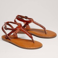 AEO Beaded T-Strap Sandal   American Eagle Outfitters