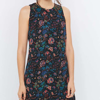 Staring at Stars Guinevere Backless Floral Black Dress - Urban Outfitters