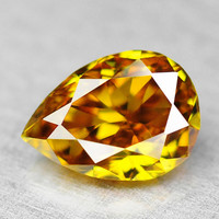 Natural Loose Diamond 0.14 Cts Sunny Lustrous Bright Golden Yellow Untreated Natural Diamond F546