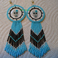 Rosette stitched adorable little DOD Owl earrings