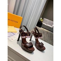 lv louis vuitton women casual shoes boots fashionable casual leather women heels sandal shoes 49