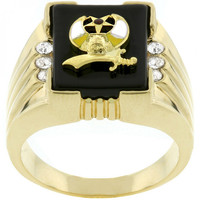 3-stone Shriners Mens Ring - CasaMom's Everything