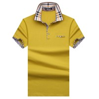 New Arrival 2017 England style  Men Polo Shirt Summer Short Sleeve Polos Shirt Mens Solid  Shirt 95%  Cotton Plus size S-10XL