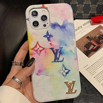 LV Louis Vuitton iPhone Cover Case For iphone 7 7plus 8 8plus X XR XS MAX 11 Pro Max 12 Mini 12 Pro Max White