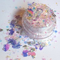 Pink Unicorn Fluff - Pink, Iridescent, Holographic & Silver Unicorn Cosmetic Body Glitter For Festival and Creative Makeup, Slime and Crafts