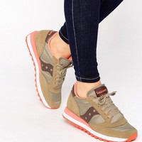 Saucony | Saucony Jazz Original Sneakers In Sand & Coral at ASOS