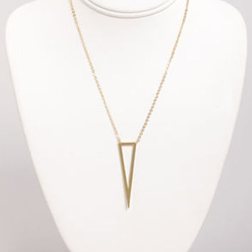 Acute Commuter Gold Triangle Necklace