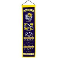 "Michigan Wolverines NCAA Heritage"" Banner (8""x32"")"""