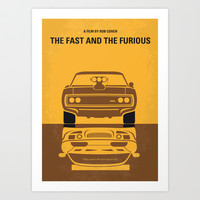 No207 My The Fast and the Furious minimal movie poster Art Print by Chungkong