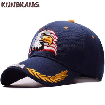 Trendy Winter Jacket New Men Eagle Baseball Cap American Flag Embroidery Snapback Dad Hat Bone Male Summer Casual Letter US Army Tactical Hip Hop Cap AT_92_12