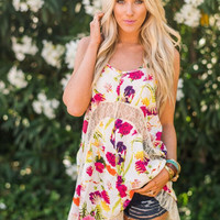 Tropical Honey Tunic Dress