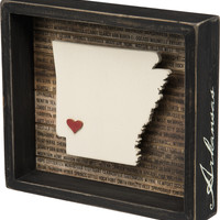 State Patriotic Pride Shadow Box Frame - Arkansas