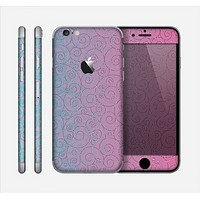 The OverLock Pink to Blue Swirls Skin for the Apple iPhone 6