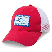 Signature Patch Trucker Hat in Red by Southern Tide