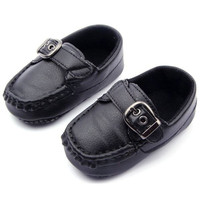 0-12M Unisex Baby Boys Girls PU Leather Cozy Anti Slip Bottom Sneakers Kids Soft Shoes First WalkersUBY