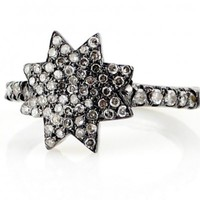 Champagne Pave Diamond Star Ring - Shop
