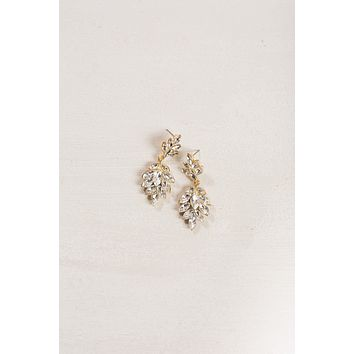 Cheyenne Crystal Leaf Dangle Earrings