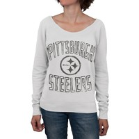 Pittsburgh Steelers - Logo Off Shoulder Juniors Sweatshirt