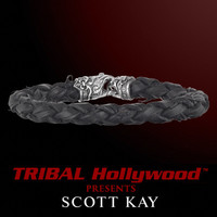 Black Braided CACTUS LEATHER Bracelet with Sterling Silver Clasp by Scott Kay   Tribal Hollywood