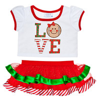 Love Gingerbread Skirt Outfit 2 pc.