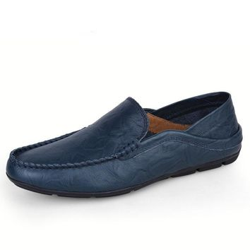big size 35-47 slip on casual men loafers spring and autumn mens moccasins shoes genuine leather men's flats shoes