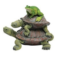 SheilaShrubs.com: In Good Company, Frog and Turtles Statue QM221531 by Design Toscano: Garden Sculptures & Statues