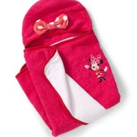 Summer Infant 100% Cotton Infant Minnie Mouse Hooded Towel