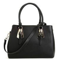 Black She's The Boss Handbag