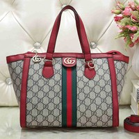 GUCCI simple and versatile printed shoulder messenger bag chain bag handbag