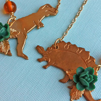 Dino-Might Dinosaur Necklace | Eclectic Eccentricity Vintage Jewellery