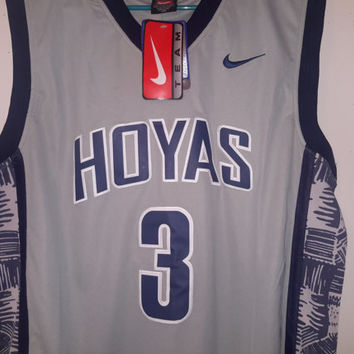 Vintage Georgetown Hoyas Allen Iverson 90s Nike NCAA sports college Basketball March Madness