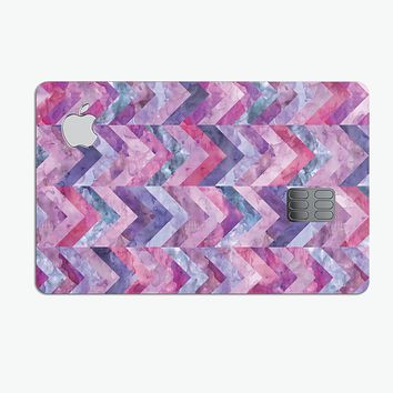 Purple Watercolor Chevron Pattern - Premium Protective Decal Skin-Kit for the Apple Credit Card