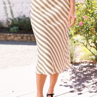 Belgium Bias Cut Midi Skirt