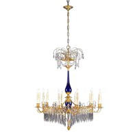 Russian Neoclassical Crystal Chandelier