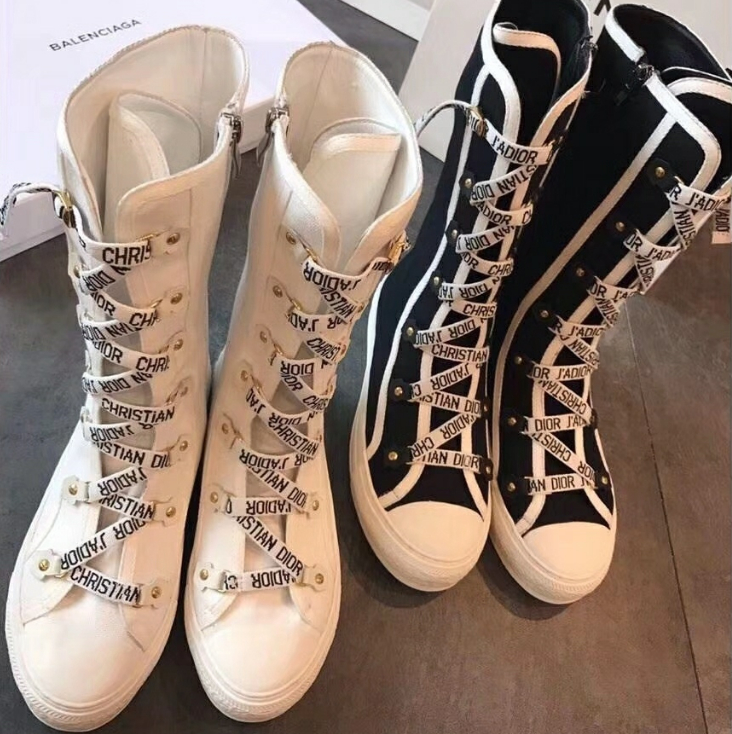 Image of DIOR Fashion Women's Knit Boots