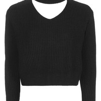 **Cropped Choker Knit by Glamorous Petites - New In